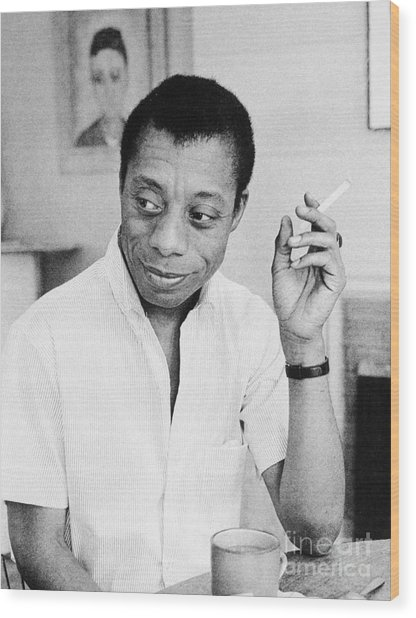 James Baldwin Wood Print