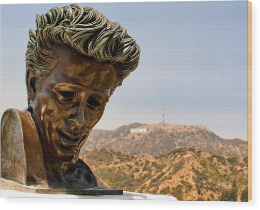 James Dean - Griffith Observatory Wood Print