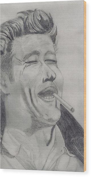 James Dean Wood Print by Shawn Sanderson