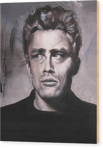 James Dean Two Wood Print