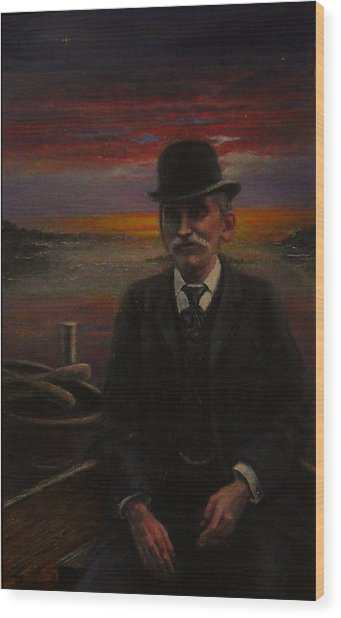 James E. Bayles Sunset Years Wood Print