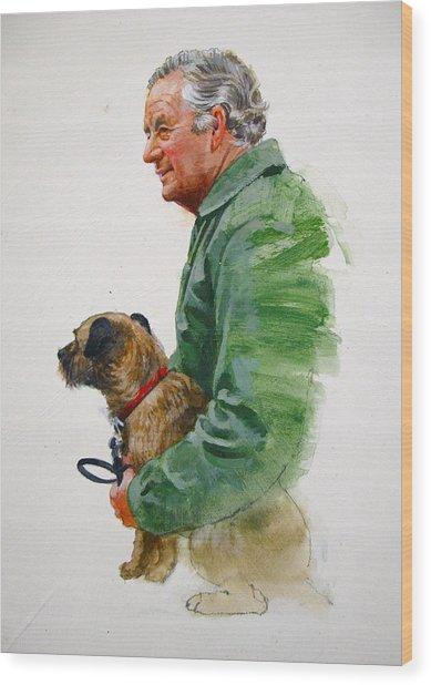 James Herriot And Bodie Wood Print