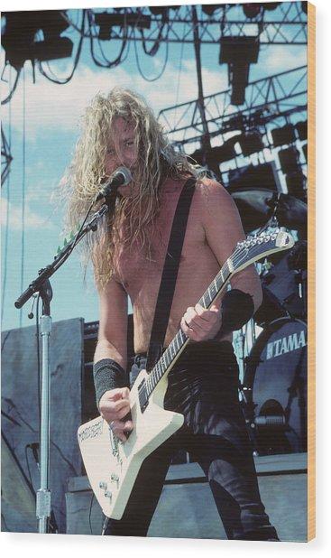 James Hetfield Of Metallica Wood Print