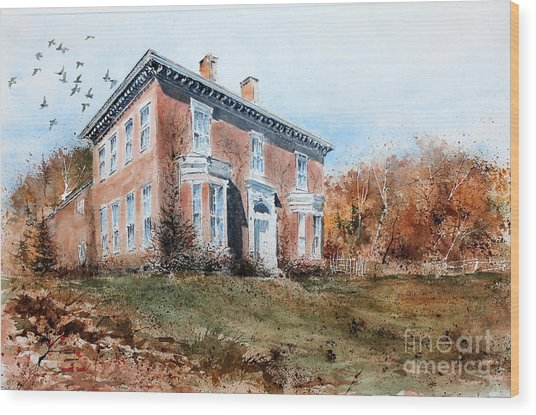 James Mcleaster House Wood Print