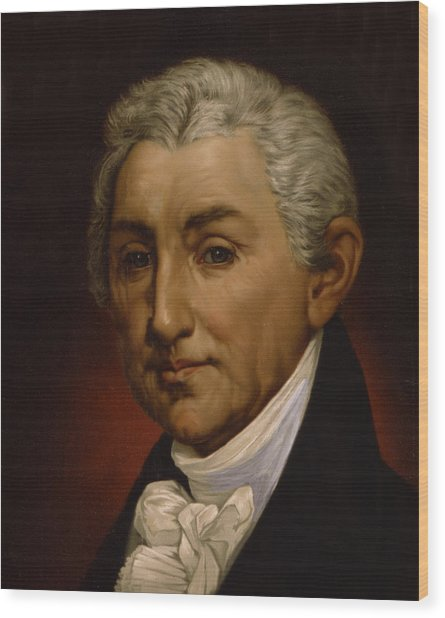James Monroe - President Of The United States Of America Wood Print