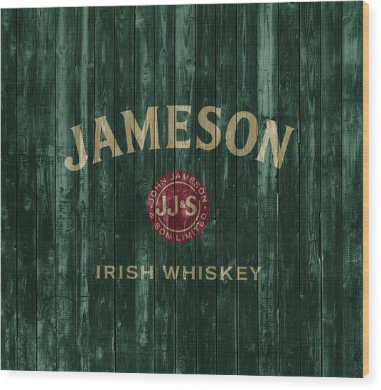 Jameson Irish Whiskey Barn Door Wood Print