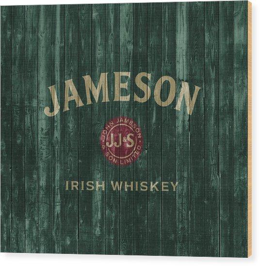 Jameson Irish Whiskey Barn Door Wood Print