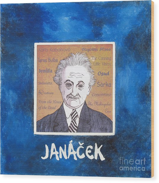 Janacek Wood Print by Paul Helm