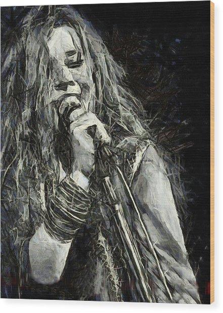Janis Joplin 1969 Wood Print