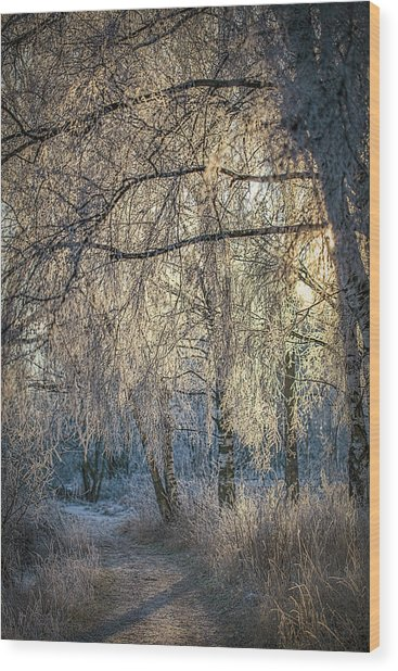 January,1-st, 14.35 #h4 Wood Print