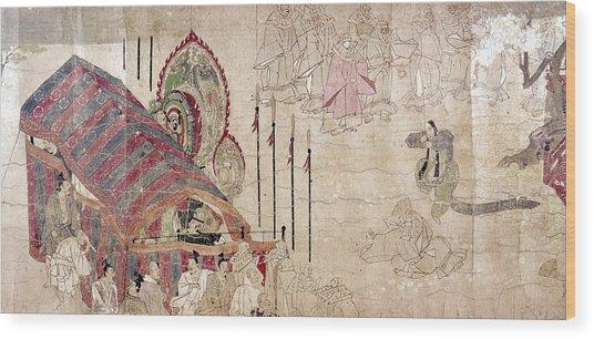 Japan: Buddhist Monks Wood Print