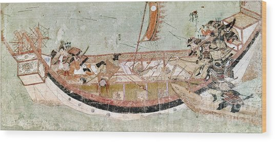 Japan: Mongol Invasion Wood Print