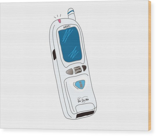 Japanese Classic Phone Wood Print