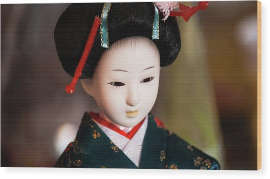 Japanese Doll Wood Print