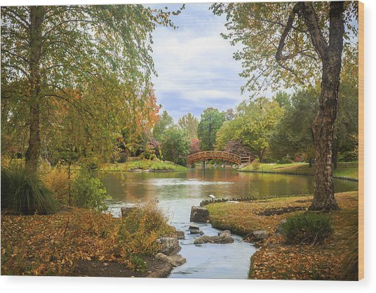 Wood Print featuring the photograph Japanese Garden View by David Coblitz