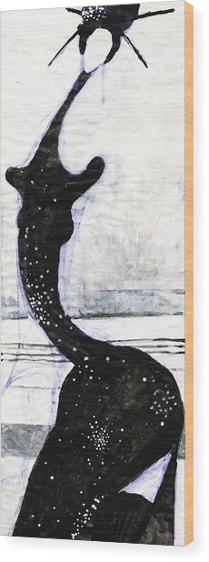 Japanese Girl Wood Print by Maya Manolova