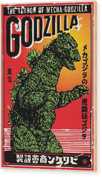 Japanese Godzilla  Wood Print
