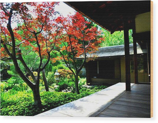 Japanese House Wood Print by Andrew Dinh
