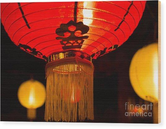 Japanese Lantern 1 Wood Print