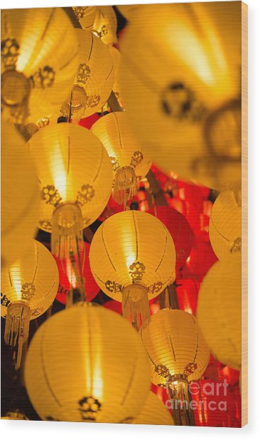 Japanese Lantern 3 Wood Print