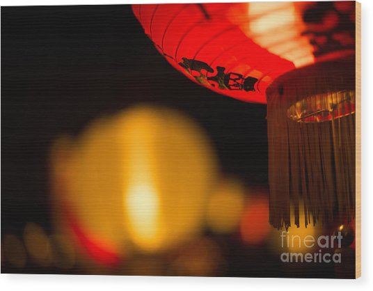 Japanese Lanterns 2 Wood Print