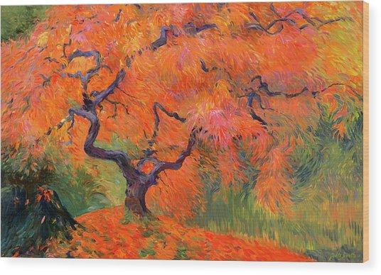 Japanese Maple Tree Wood Print