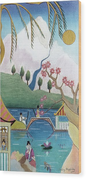 Japanese Willow Wood Print by Sally Appleby
