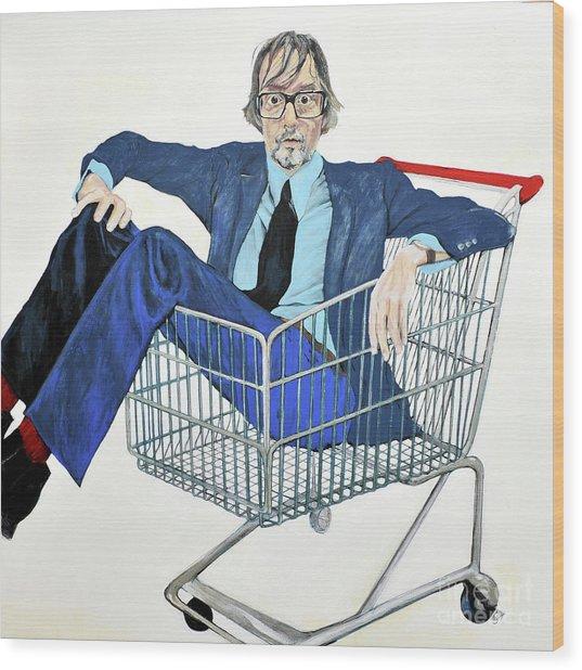 Jarvis Cocker 'off Yer Trolley' Wood Print