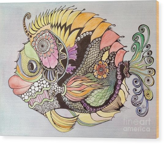 Jasmine The Fish Wood Print