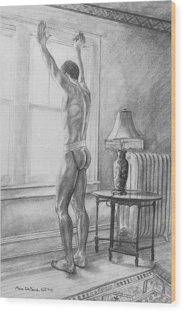Jason At The Window Wood Print
