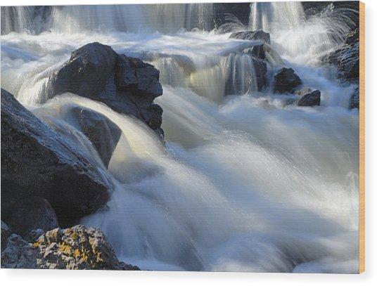 Jasper Falls Closeup Wood Print
