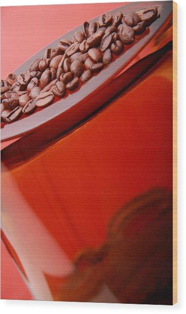 Java In Red Wood Print