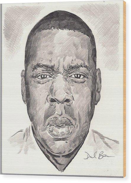 Jay-z Wood Print by Darryl Barnes