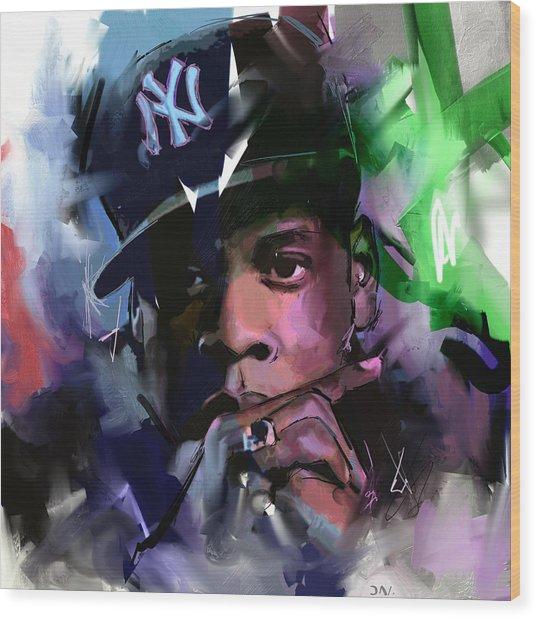 Jay Z Wood Print