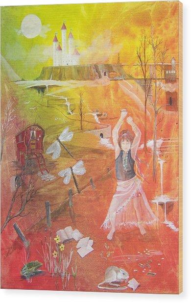 Jayzen - The Little Gypsy Dancer Wood Print