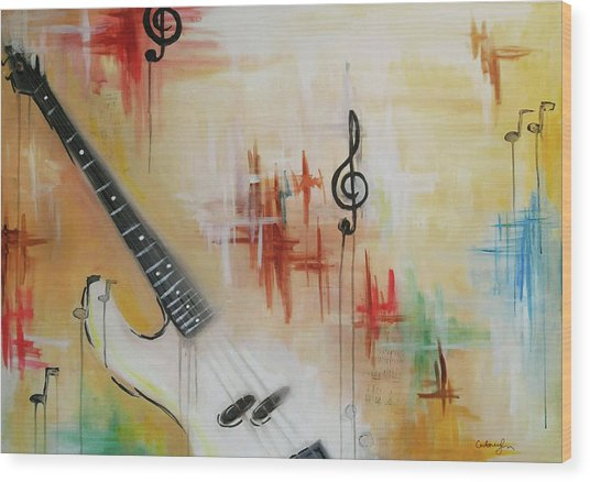 Jazz 001 Wood Print