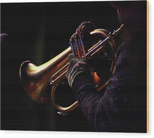 Jazz 16 Wood Print