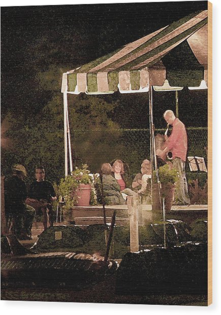 Jazz At The Boathouse Subdued Wood Print