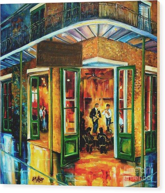 Jazz At The Maison Bourbon Wood Print