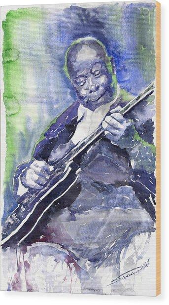 Jazz B B King 02 Wood Print