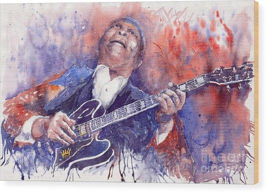 Jazz B B King 05 Red Wood Print