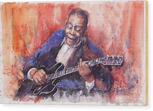 Jazz B B King 06 A Wood Print