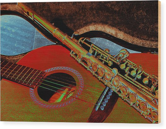 Jazz Band Wood Print