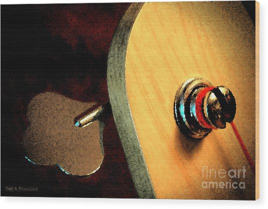 Jazz Bass Tuner Wood Print