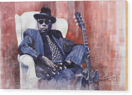 Jazz Bluesman John Lee Hooker 02 Wood Print