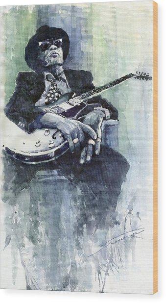 Jazz Bluesman John Lee Hooker 04 Wood Print
