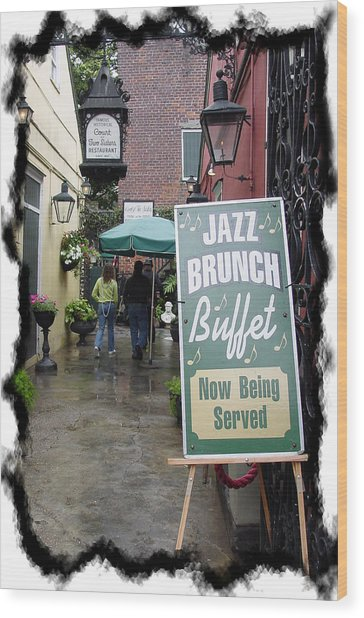 Jazz Brunch Wood Print by Linda Kish
