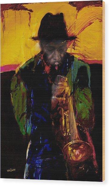 Jazz Man 3 Wood Print by James VerDoorn