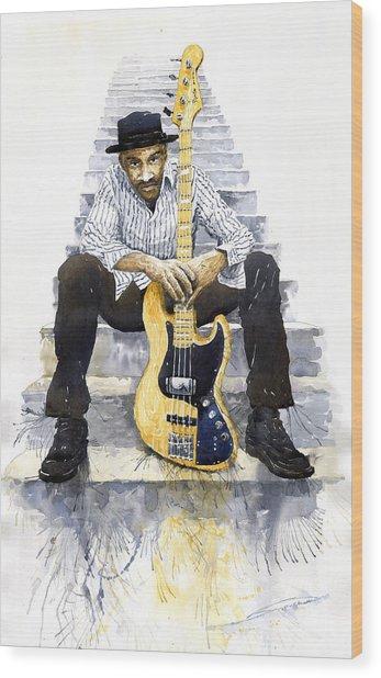 Jazz Marcus Miller 4 Wood Print