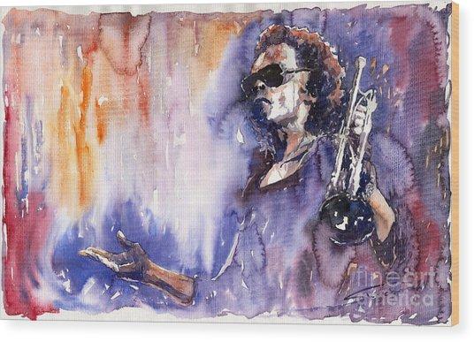 Jazz Miles Davis 14 Wood Print